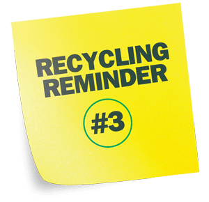 Recycling happens in more places than just your kitchen. Don't forget your toilet paper rolls and tissue boxes.